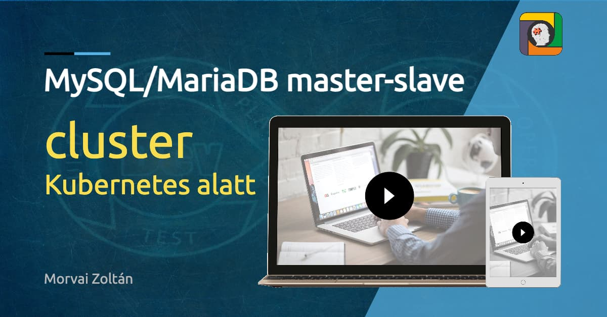 MySQL/MariaDB master-slave cluster Kubernetes alatt